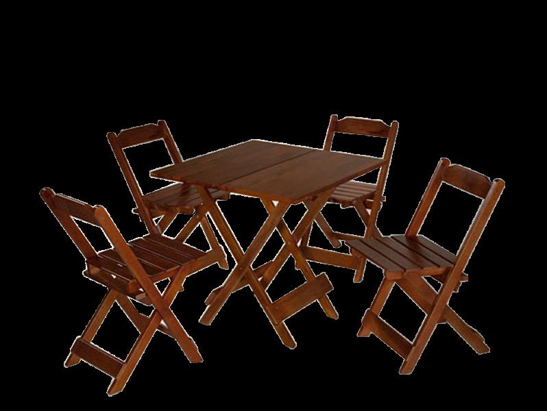 Mesa Maplan 0,70 4 Cadeiras